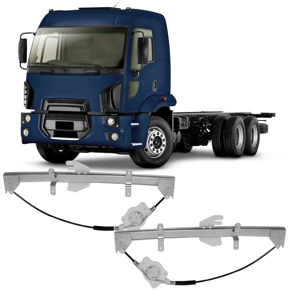 Par Maquina Vidro Elétrica Dianteira Caminhão Ford Cargo 2011 em Diante