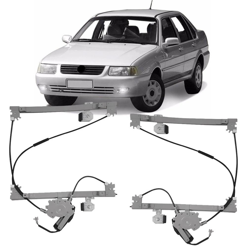 Par Maquina Vidro Elétrica + Motor Dianteira Santana 1999 a 2006 Quantum 1999 a 2002 4 Portas