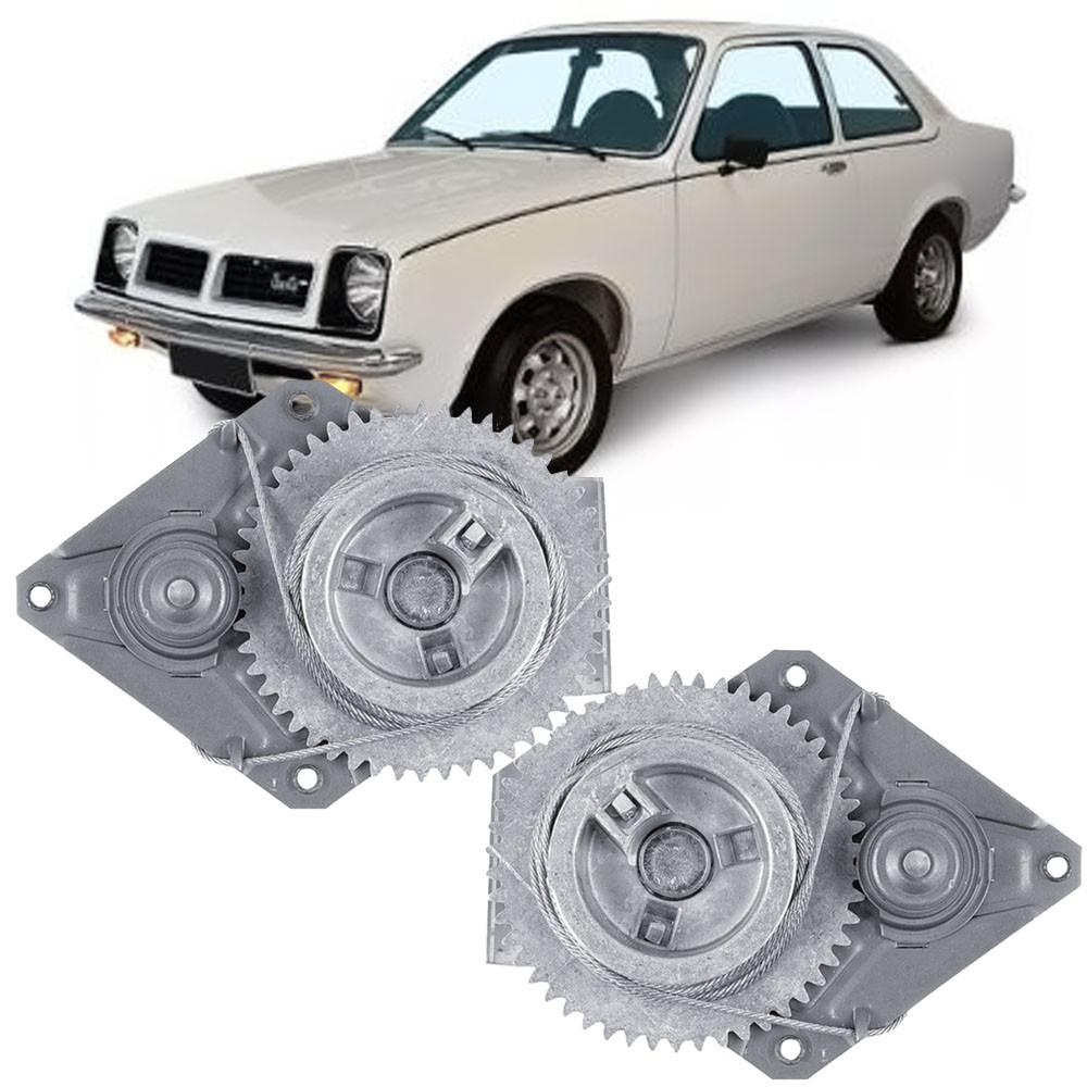 Par Maquina Vidro Manual Dianteira Chevette 1973 a 1982 Marajó 1980 a 1982 2 Portas