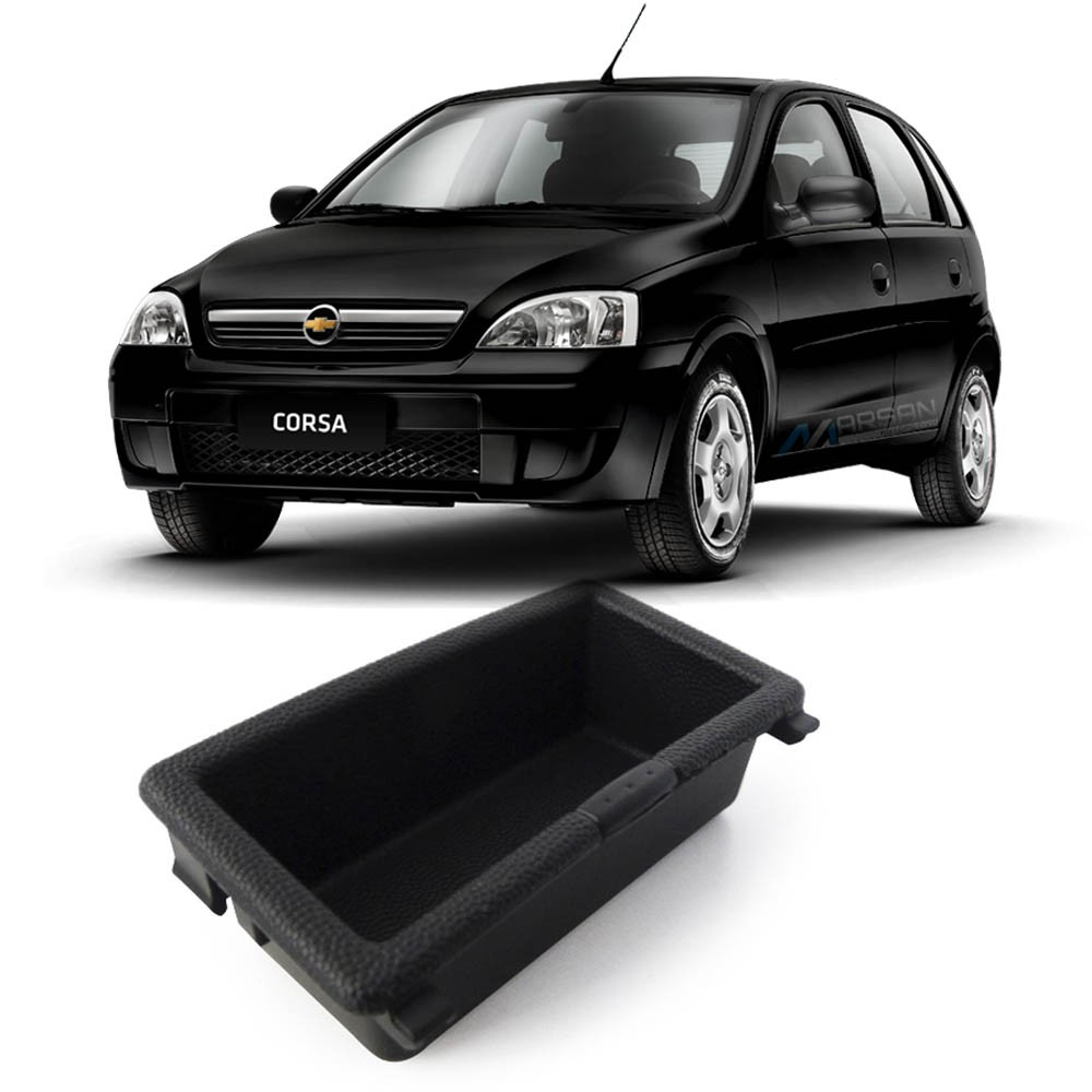 Porta Objetos Preto Console Câmbio Corsa Hatch Sedan Montana