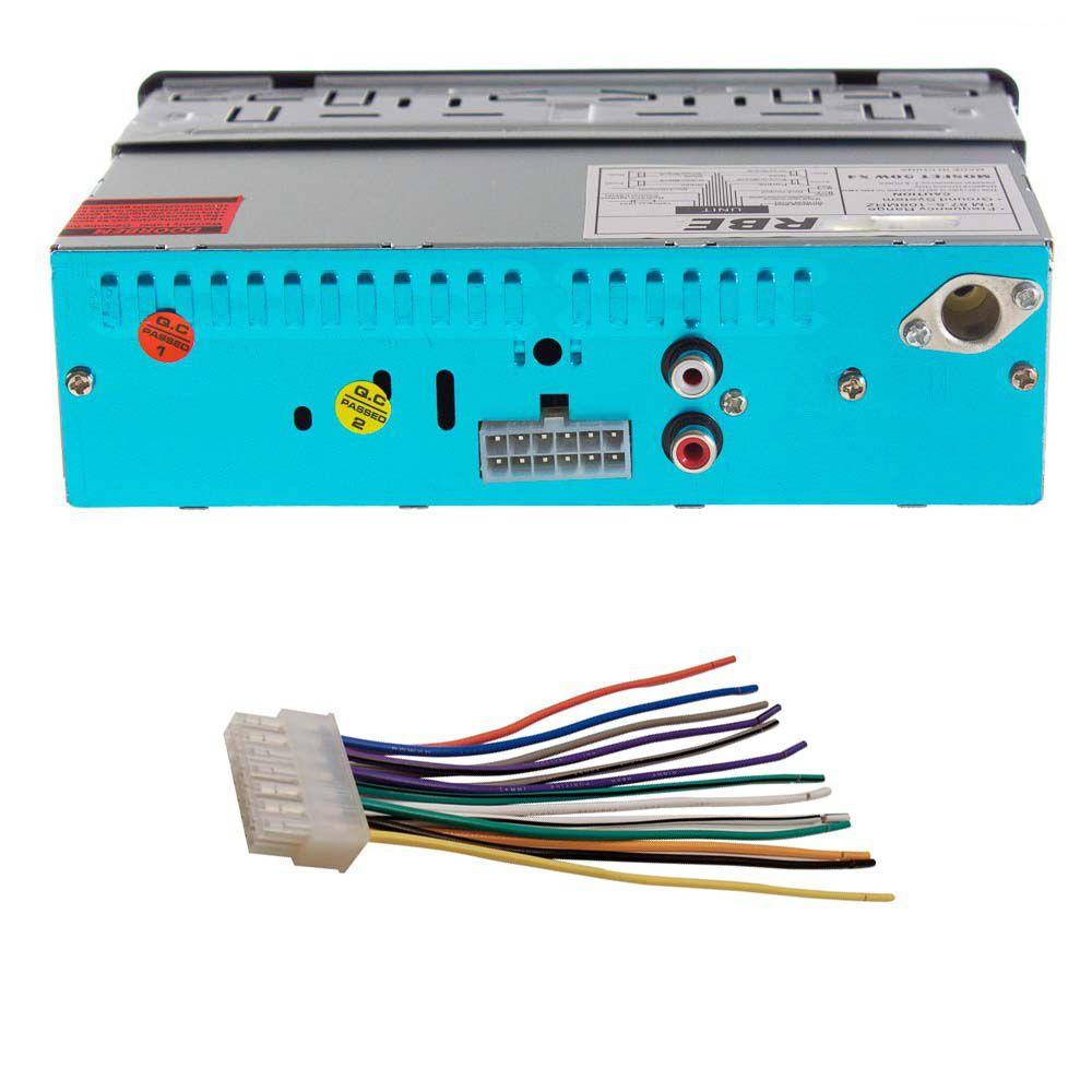 Radio FM MP3 Player Automotivo com Controle Remoto entrada USB / SD / AUX IN