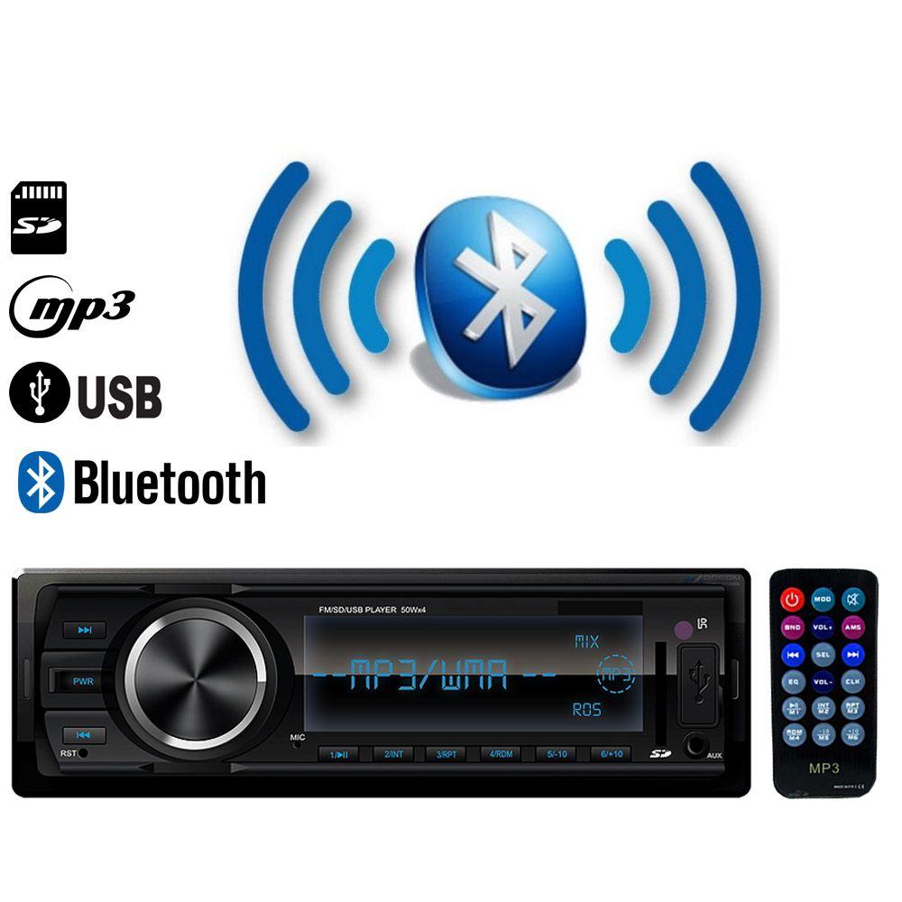 Radio FM MP3 Player Bluetooth Automotivo entrada USB / SD / AUX IN