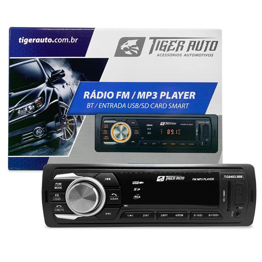 Radio FM MP3 Player Bluetooth Automotivo entrada USB / SD / AUX P2