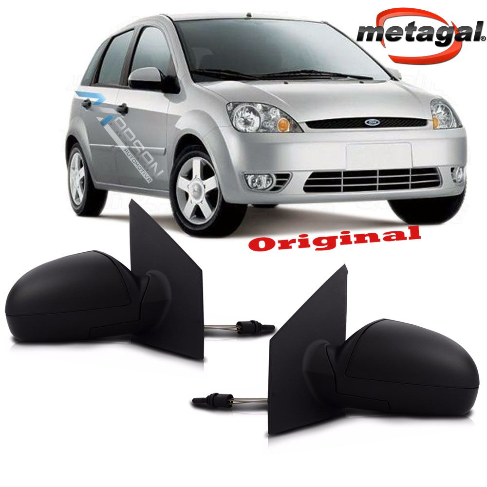Retrovisor Fiesta Hatch 2002 a 2014 Fiesta Sedan 2002 a 2014 Controle Manual