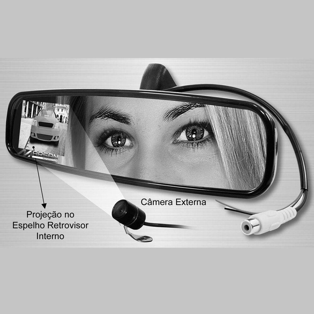 Retrovisor Interno Cinza Fiesta Ka Courier Ecosport com Camera Ré