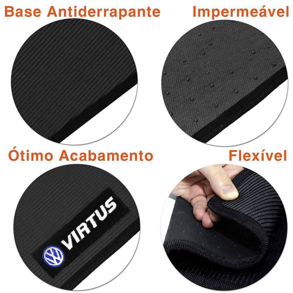 Tapetes Automotivos Em PVC Preto Virtus 2018 2019 2020