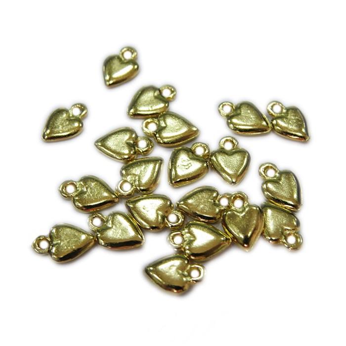 Mini pingente coração (Niquel/Dourado) - MPD002