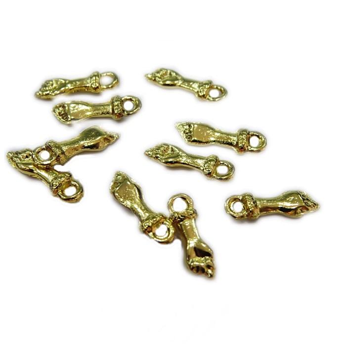 Mini pingente figa Dourada e Niquel (10 unid.)- MPD004