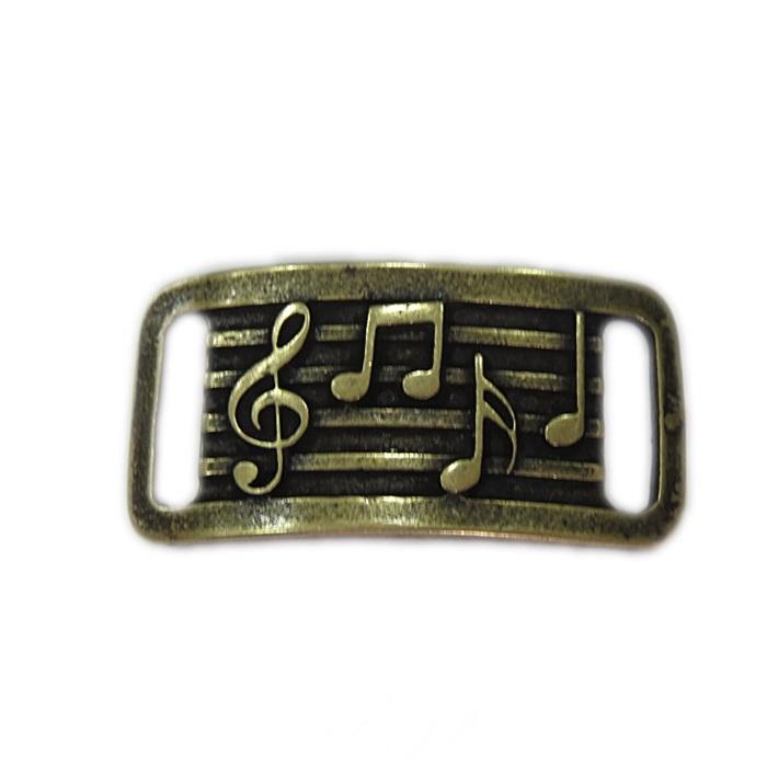 Entremeio ouro velho placa notas musicais- EO071
