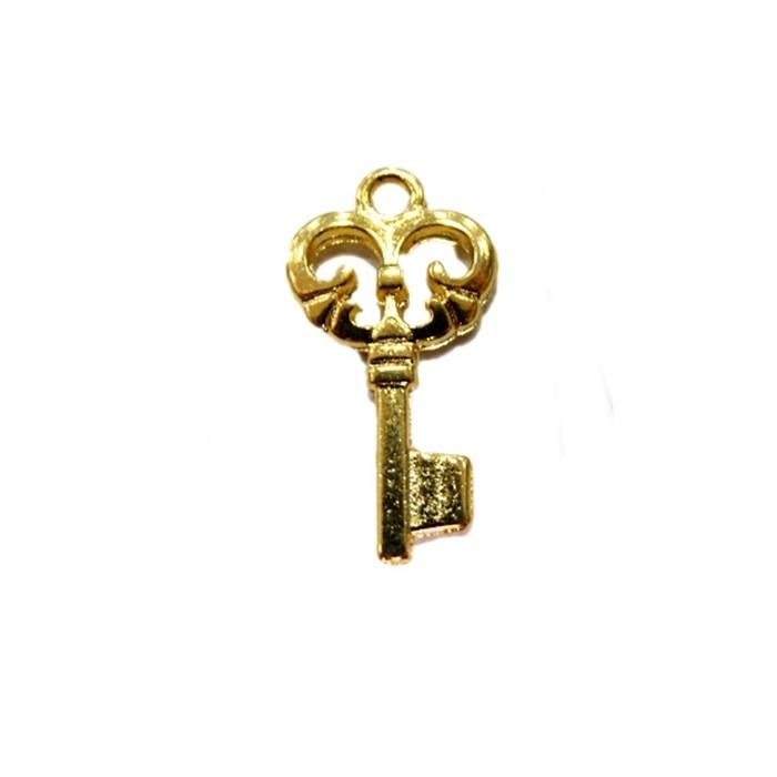 Pingente Chave I dourada- PTD034