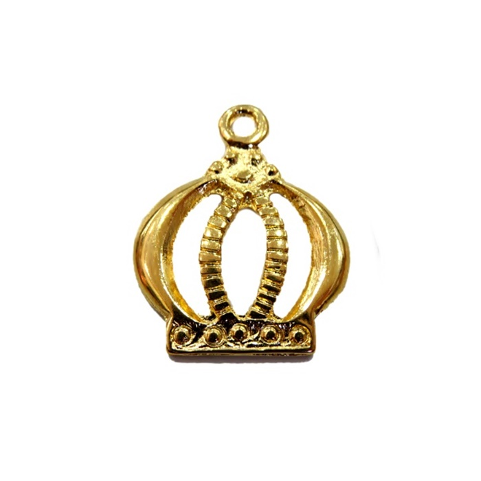 Pingente Coroa II dourada- PTD041