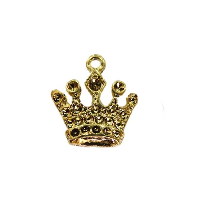 Pingente Coroa III dourada- PTD042