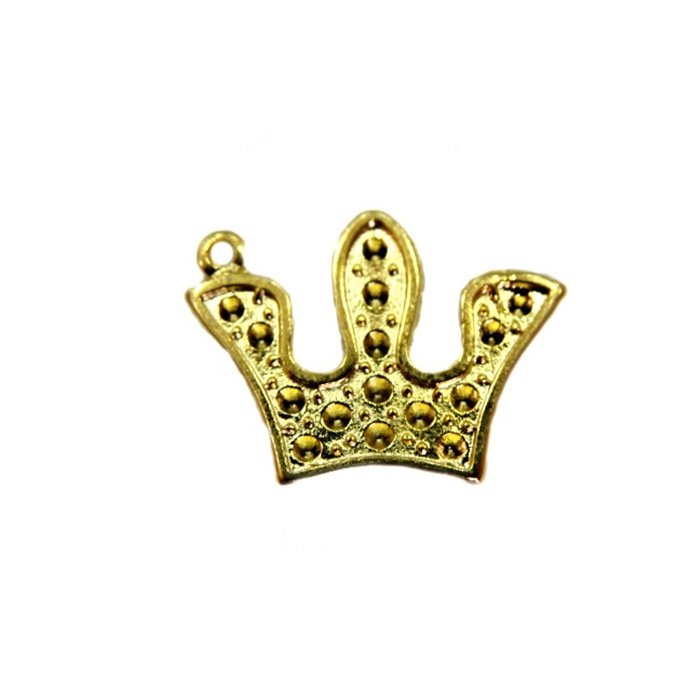 Pingente Coroa IV dourada- PTD044