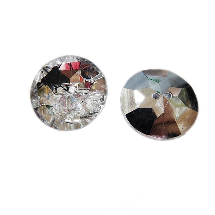 Botão de acrílico espelhado redondo G (05 unid.)- BOE002