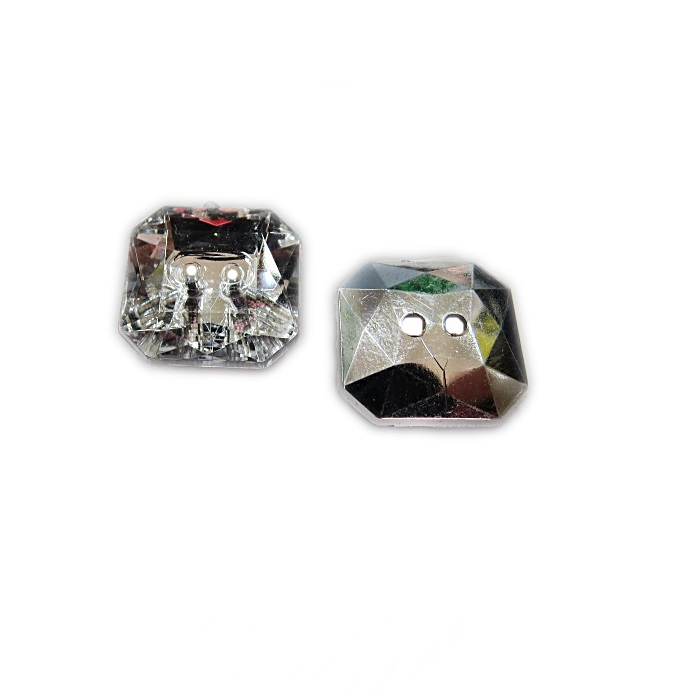 Botão de acrílico espelhado quadrado - BOE005 ATACADO