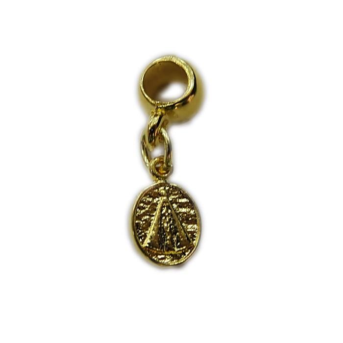 Berloque dourado pingente medalinha nossa senhora- BED088