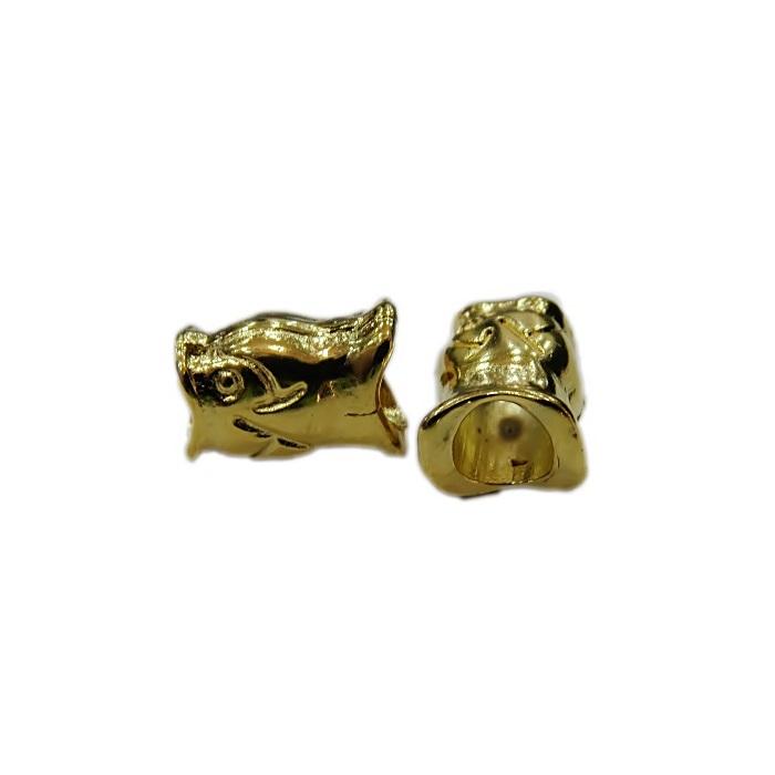 Berloque dourado peixe- BED089