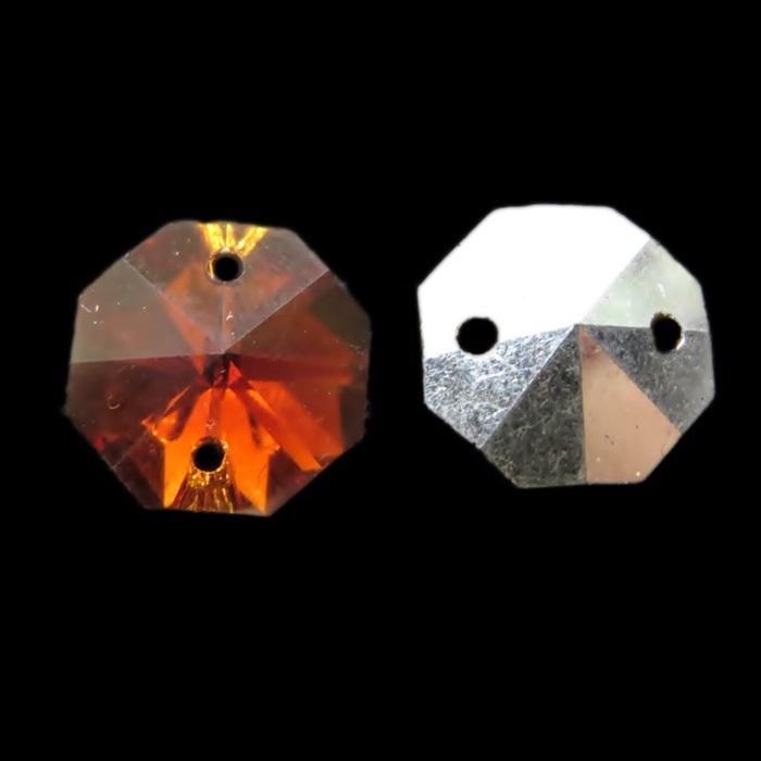 Castanha de cristal chinesa smoked topaz (10 unid.)- CCC002