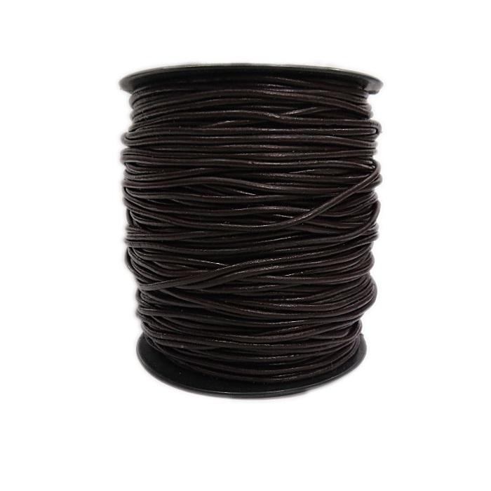 Couro roliço sintetico c/ elasticidade 1,5mm (05 mts)- CRS001
