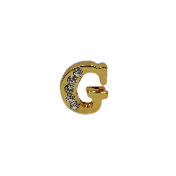 Letra dourada c/ strass passante (F- G- H- I- J)- LTD002