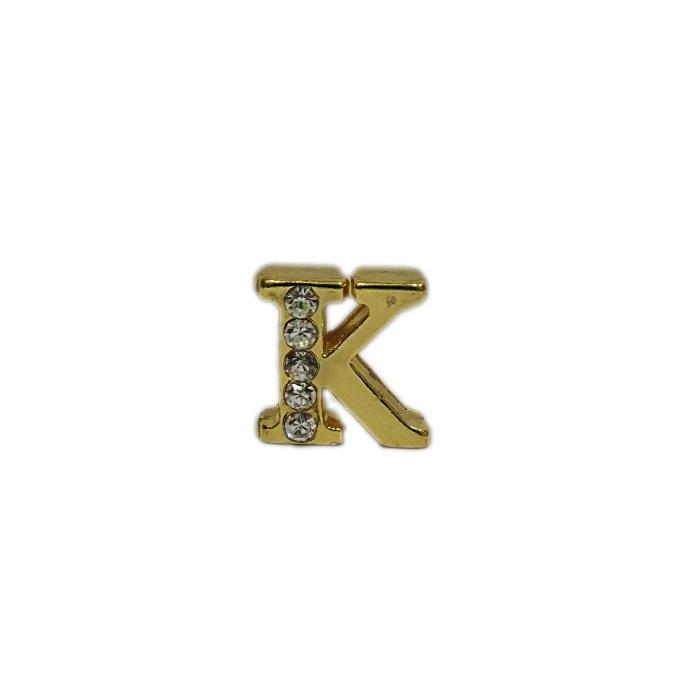 Letra dourada c/ strass passante (K- L- M- N- O)- LTD003