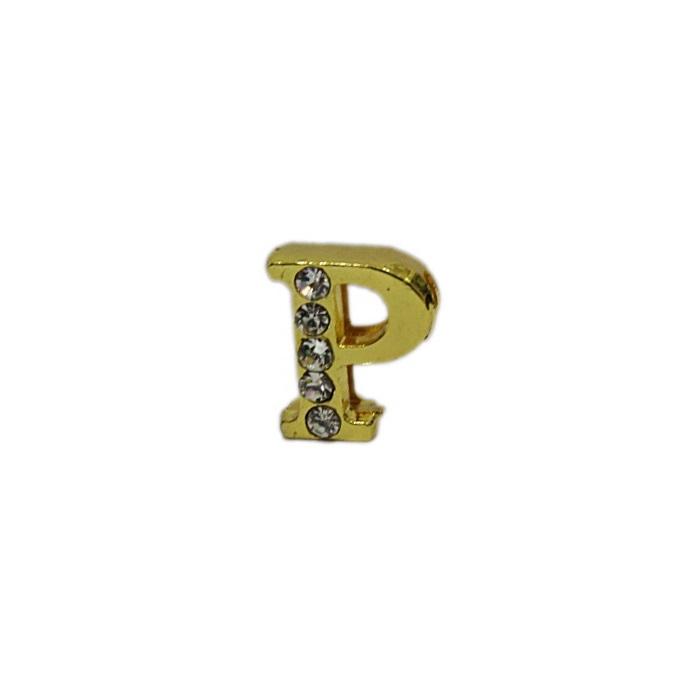 Letra dourada c/ strass passante (P- Q- R- S- T)- LTD004