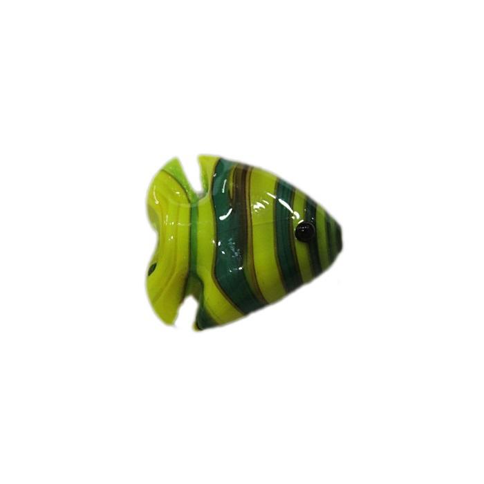 Peixe de murano verde / amarelo (10 unidades)- MU706