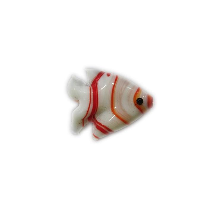 Peixe de murano Branco/ vermelho (10 unidades)- MU704