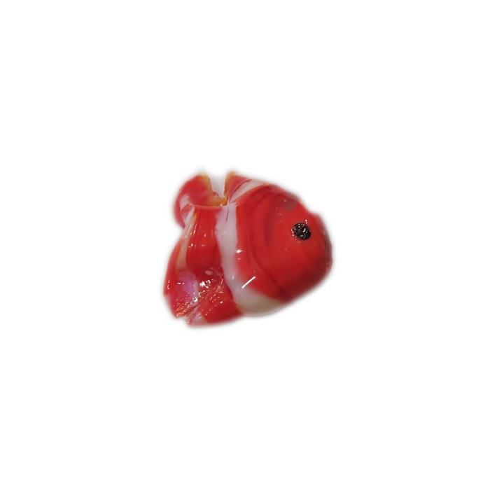 Peixe de murano laranja/ branco (10 unidades)- MU705