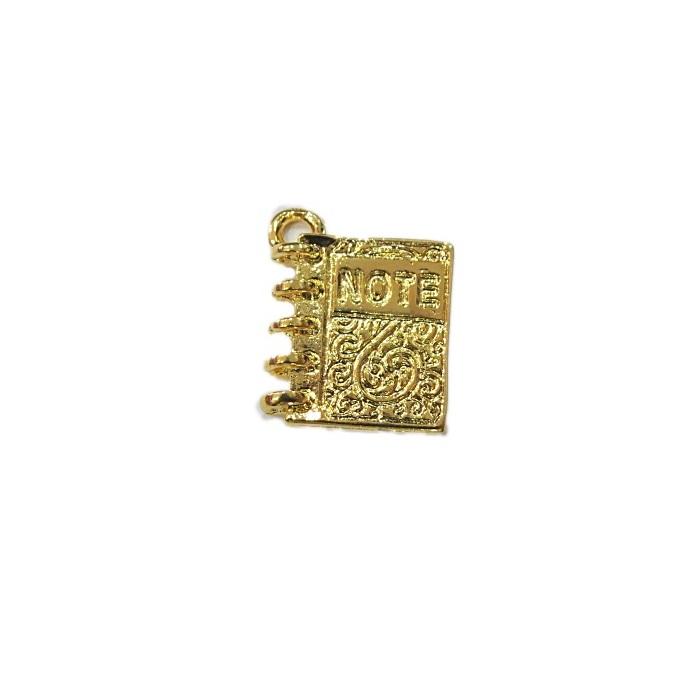 Pingente dourado note- PTD065