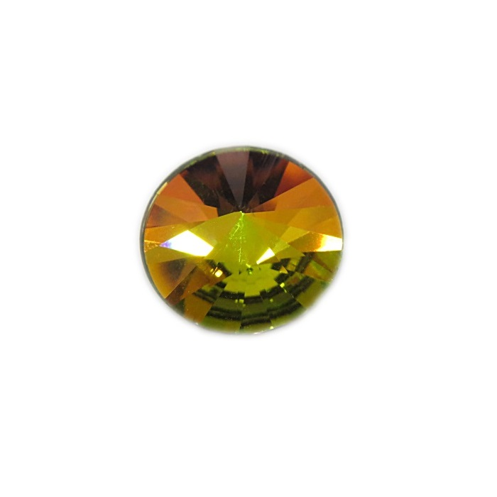 Rivoli Preciosa base reta Crystal vitrail medium 14mm- RVO005