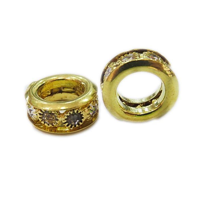 Rondela de strass dourada G- ROD004