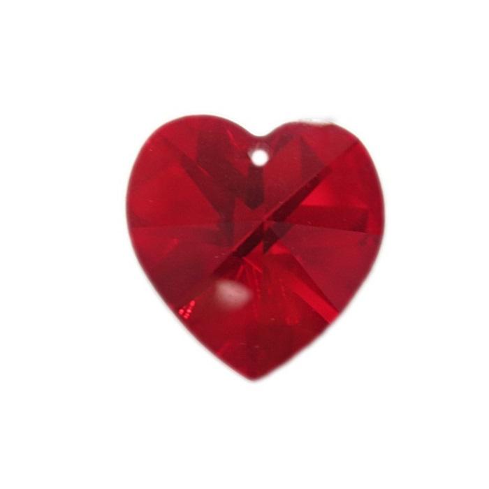 Coração de cristal Preciosa médio pingente- CPP004