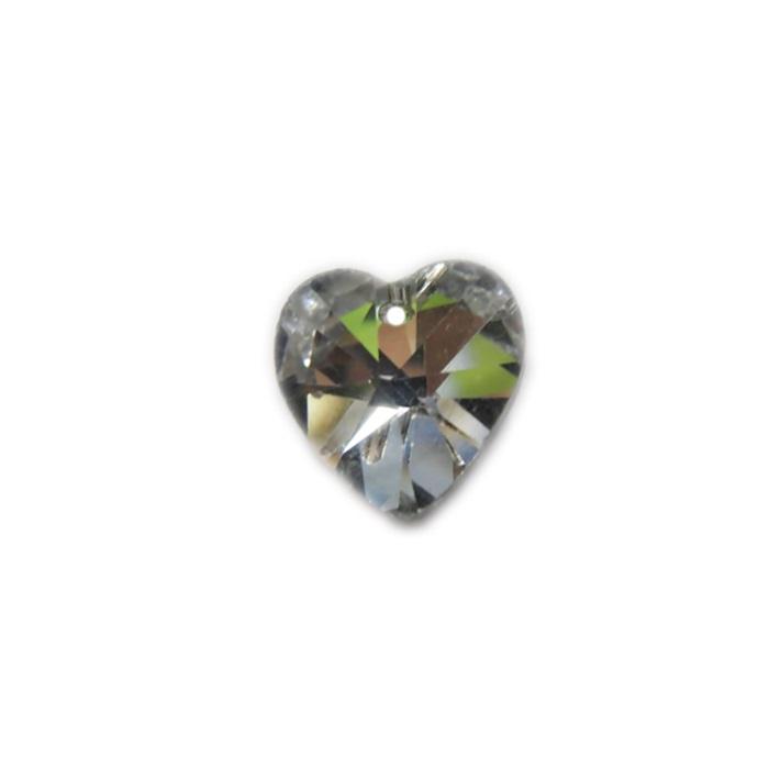 Coração de cristal Chinês pequeno pingente- CCP001