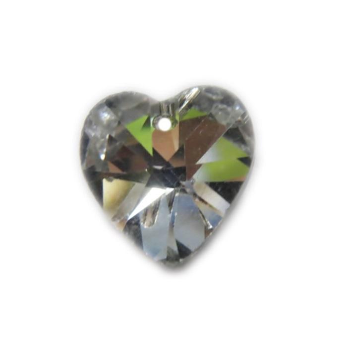Coração de cristal Chinês médio pingente- CCP002