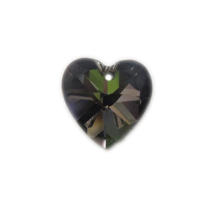 Coração de cristal Chinês médio pingente- CCP003