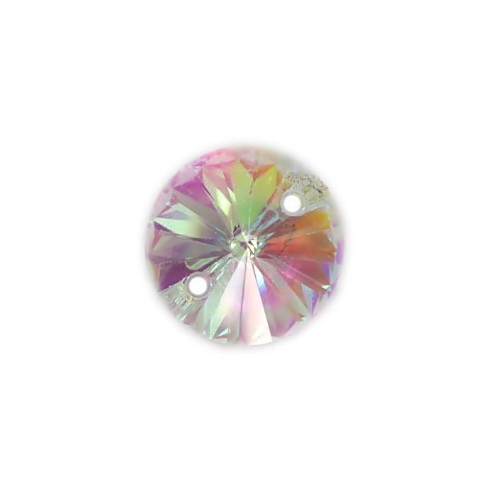 Rivoli cristal chinês AB 2 furos- RC001