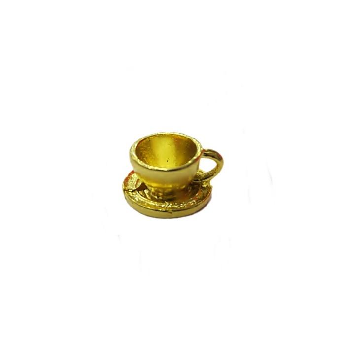 Pingente Xícara dourada- PTD063