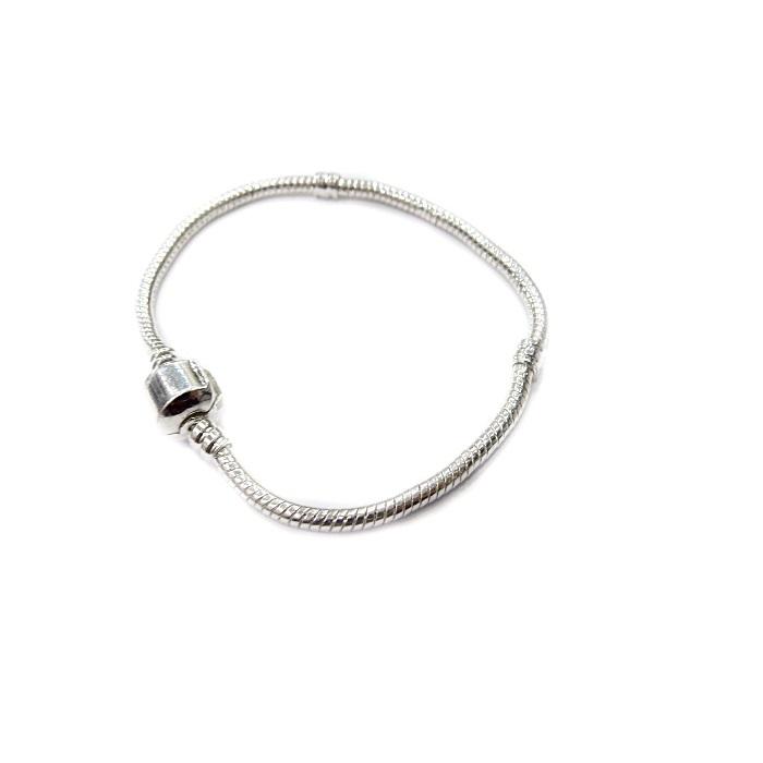 Pulseira Pandora Banho de Prata 16,18,19 e 20cm - PAN006