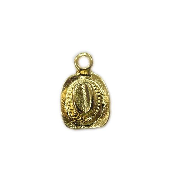 Pingente dourado chapeu- PTD073