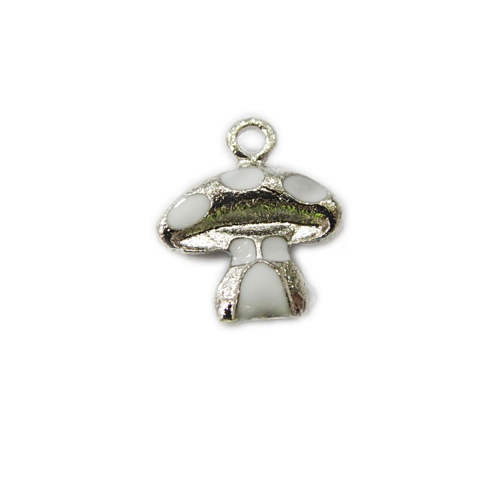 Pingente níquel cogumelo resinado- PTN142
