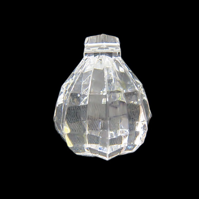 Pingente de acrilico facetado transparente- PAC005