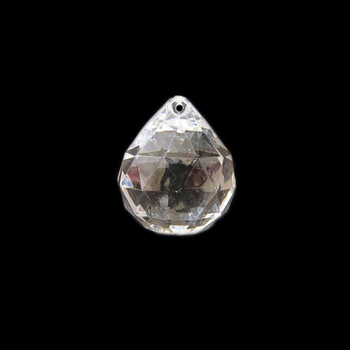 Pingente de acrilico gota sextavada m transparente- PAC016