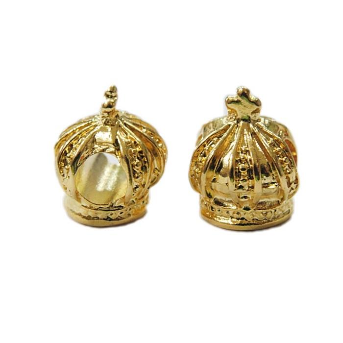 Berloque dourado coroa rei- BED012