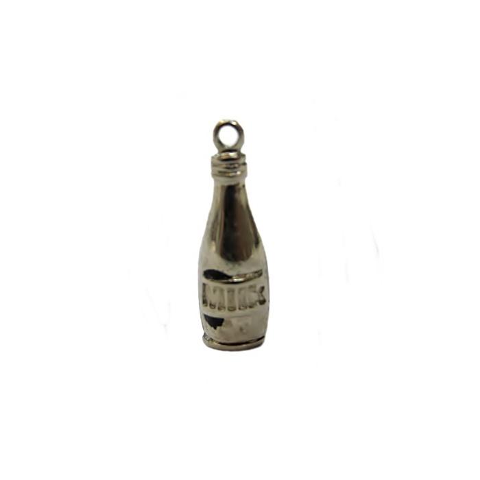 Pingente Garrafa milk níquel- PTN019