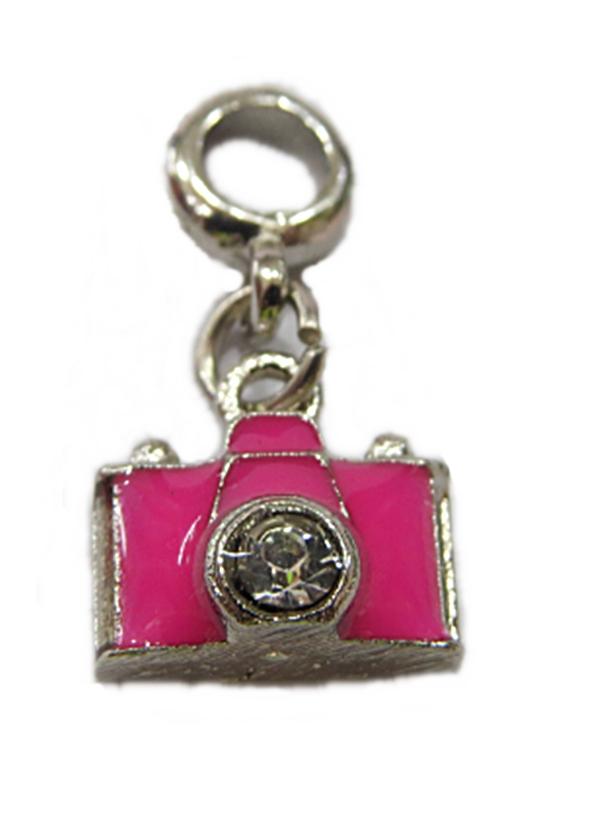 Berloque Niquel Pingente Maq. Fotg. Pink ben430