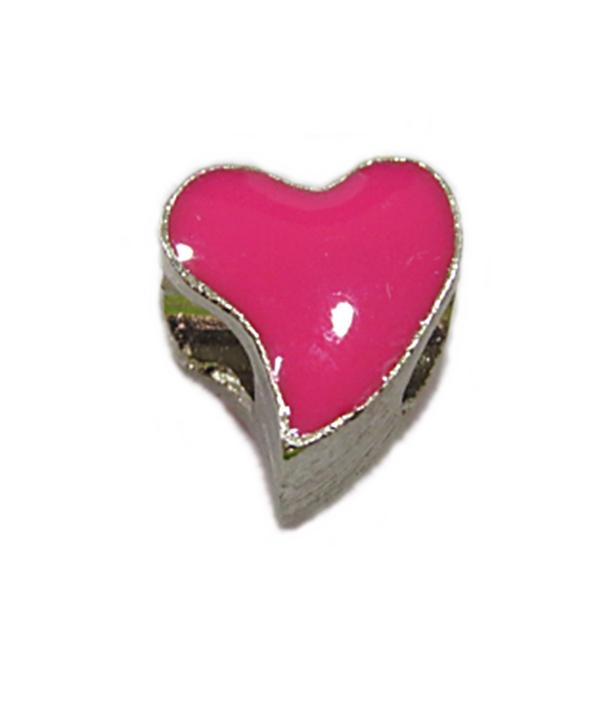 Berloque Niquel Coração Resinado Pink Ben433