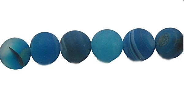Pedra Agata Azul Fosca N08 mm-PDN200