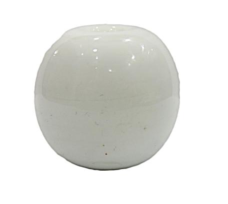 Bola De Murano GG Branca Leitoso -MU828