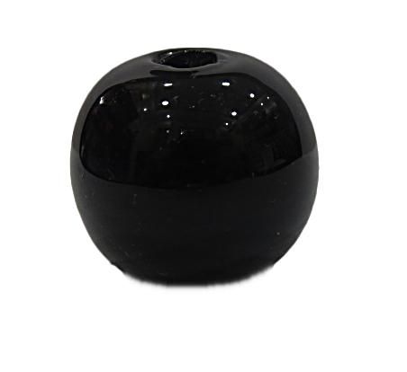 Bola de Murano GG Preto Leitoso -MU828